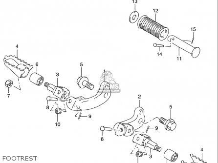 Suzuki Dr200 Se 1996-2000 (usa) parts list partsmanual