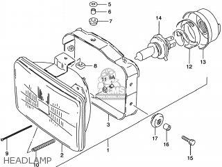 Suzuki DR200SE 1998 (W) USA (E03) parts lists and schematics