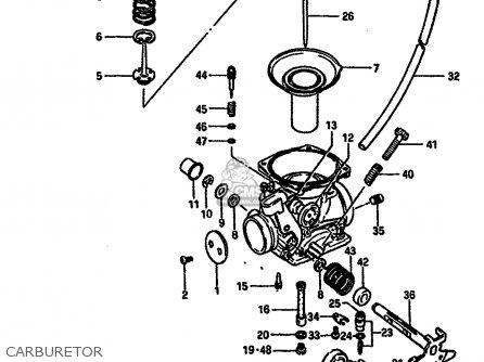 Suzuki Dr250 1984 (se) parts list partsmanual partsfiche