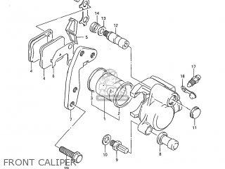 Suzuki DR250 1985 (F) USA (E03) parts lists and schematics