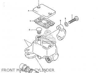 Suzuki Dr250 1985 (f) Usa (e03) parts list partsmanual