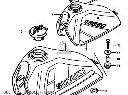 Suzuki Dr250s 1985 (f) (e01 E04 E15 E18 E21 E22 E24 E25