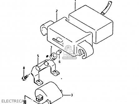 Suzuki DR350 1990 (L) parts lists and schematics