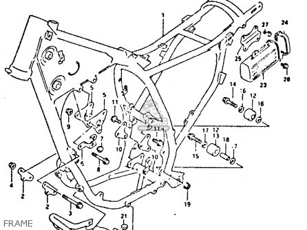 Suzuki Dr350 1991 (m) parts list partsmanual partsfiche