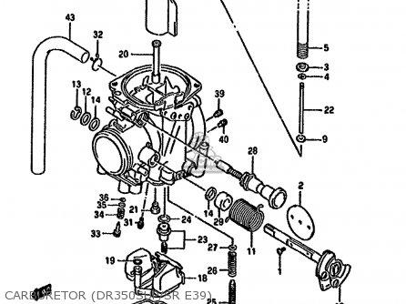 Suzuki Dr350 1993 (shp) parts list partsmanual partsfiche