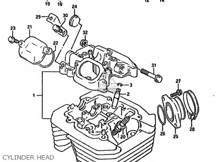 Suzuki Dr350 1993 (sup) parts list partsmanual partsfiche