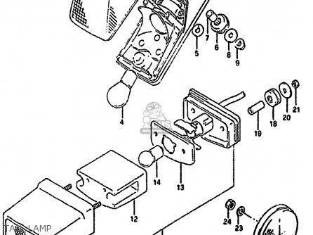 Suzuki Dr350 1994 (shr) parts list partsmanual partsfiche