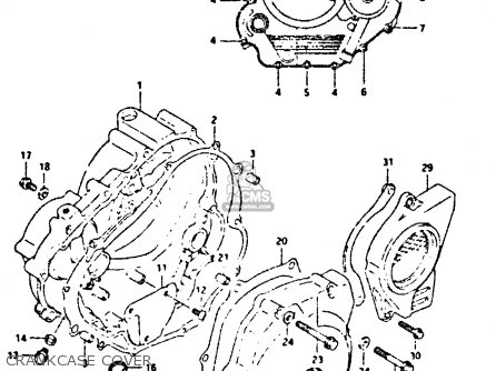 Suzuki Dr350 1995 (s) parts list partsmanual partsfiche