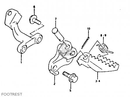 Suzuki Dr350 1995 (s) parts list partsmanual partsfiche