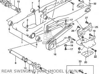 Suzuki DR350 1995 (S) USA (E03) parts lists and schematics