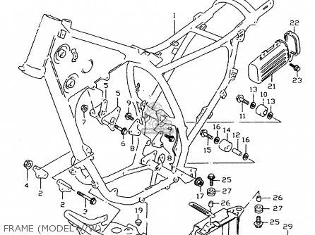 Suzuki Dr350 1995 (ses) parts list partsmanual partsfiche