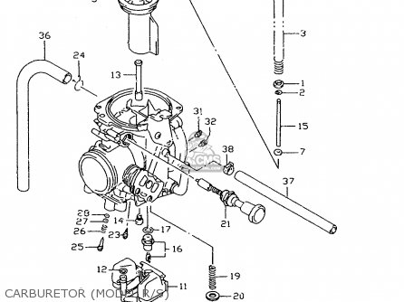 Suzuki Dr350 1996 (set) parts list partsmanual partsfiche