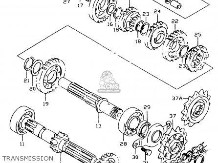 Suzuki Dr350 1997 (sev) parts list partsmanual partsfiche