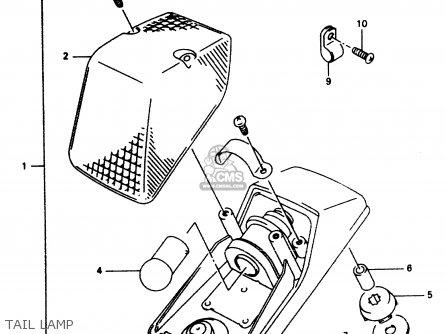 Suzuki Dr350 1997 (v) parts list partsmanual partsfiche