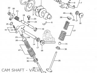 Suzuki Dr350 1997 (v) Usa (e03) parts list partsmanual