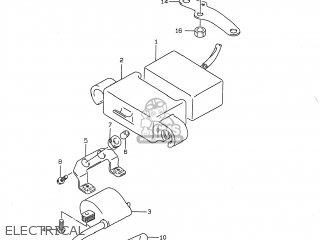 Suzuki DR350 1997 (V) USA (E03) parts lists and schematics
