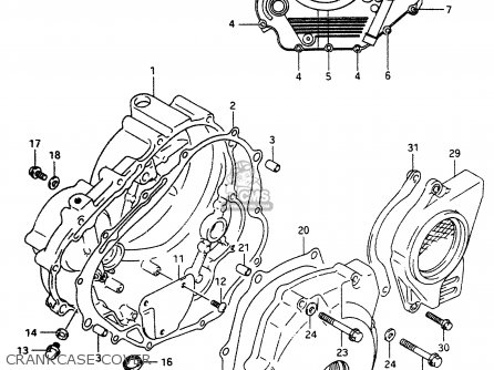 Suzuki Dr350 1998 (w) parts list partsmanual partsfiche
