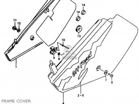 Suzuki DR350 1999 (X) parts lists and schematics