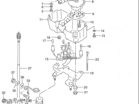 Suzuki Dr350 Se 1990-1996 (usa) parts list partsmanual
