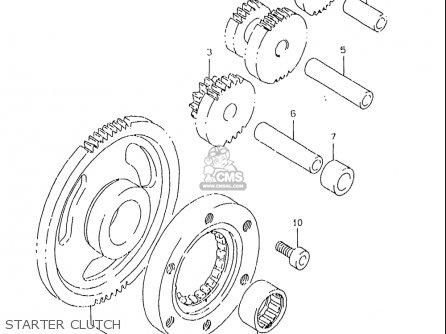 Suzuki Dr350 Se 1997-1999 (usa) parts list partsmanual