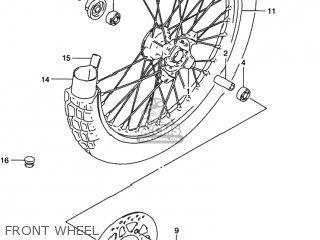 Suzuki DR350SE 1992 (N) USA (E03) parts lists and schematics