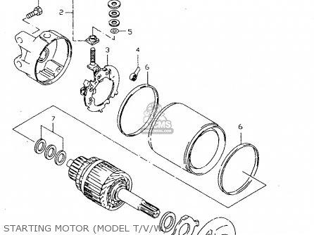 Suzuki Dr350se 1995 (s) parts list partsmanual partsfiche