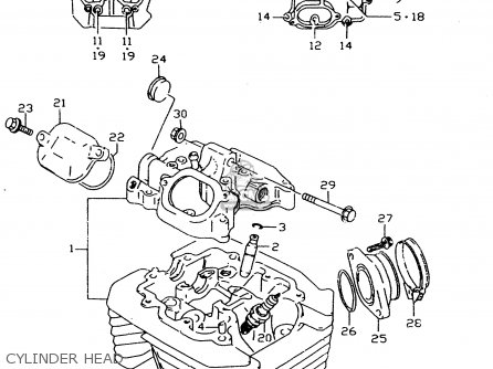 Suzuki Dr350se 1997 (v) parts list partsmanual partsfiche