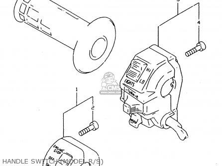 Suzuki DR350SE 1997 (V) parts lists and schematics