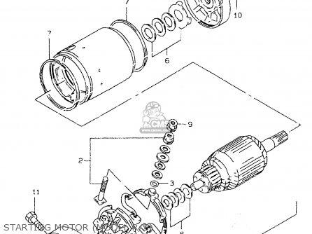 Suzuki Dr350se 1997 (v) parts list partsmanual partsfiche