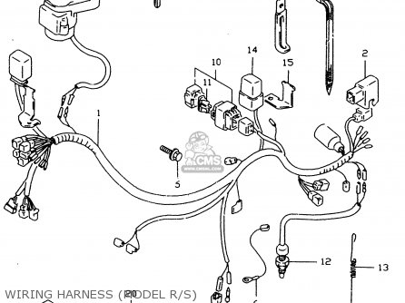 Wiring Harness For Suzuki Dr650 DR650 Frame Wiring Diagram