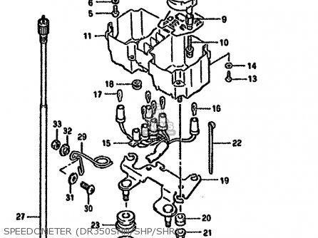 Suzuki DR350SH 1993 (P) (E04 E18 E21 E22) parts lists and