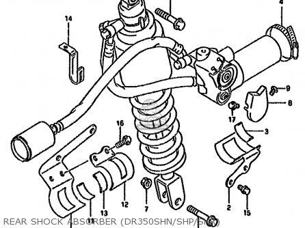 Suzuki DR350SH 1994 (R) AUSTRALIA (E22) parts lists and