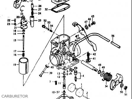 Suzuki Dr370 1978-1979 (usa) parts list partsmanual partsfiche
