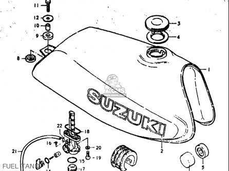 Suzuki Dr370 1978-1979 (usa) parts list partsmanual partsfiche