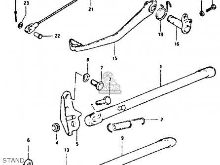 Suzuki Dr400s 1981 (x) parts list partsmanual partsfiche