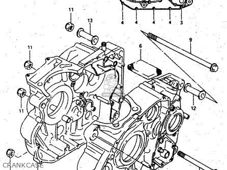 Suzuki DR500S 1987 (H) parts lists and schematics