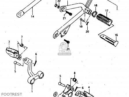 Suzuki Dr500s 1988 (j) parts list partsmanual partsfiche