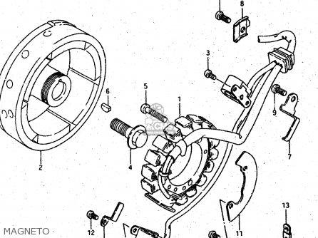 Suzuki DR500S 1988 (J) parts lists and schematics