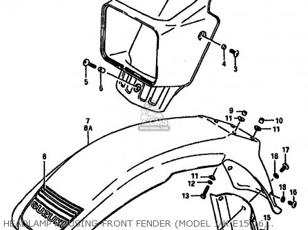 Suzuki Dr600 1985 (sf) parts list partsmanual partsfiche