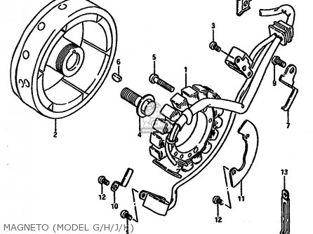 Suzuki Dr600 1986 (sg) parts list partsmanual partsfiche