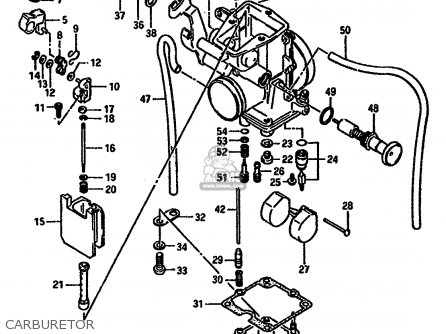 Suzuki Dr600 1988 (sj) parts list partsmanual partsfiche