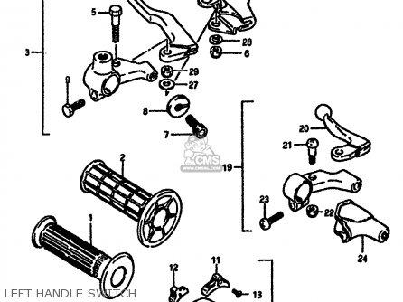 Suzuki Dr600 1988 (sj) parts list partsmanual partsfiche