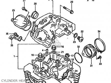 Suzuki Dr600r 1987 (h) parts list partsmanual partsfiche