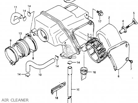 Suzuki Dr650 1990 (rl) parts list partsmanual partsfiche