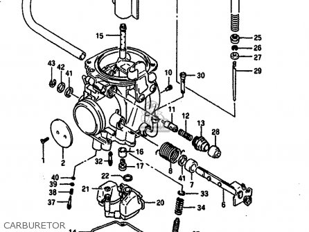 Suzuki Dr650 1990 (rsl) parts list partsmanual partsfiche