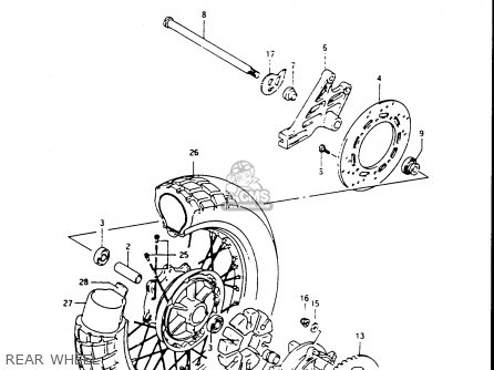 Suzuki Dr650 1990 (rsl) parts list partsmanual partsfiche