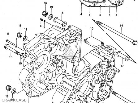 Suzuki Dr650 1990 (rul) parts list partsmanual partsfiche