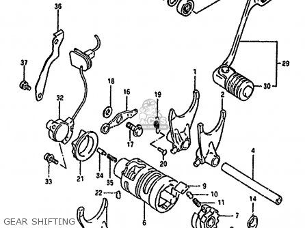 Suzuki Dr650 1993 (rp) parts list partsmanual partsfiche