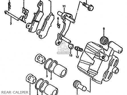 Suzuki Dr650 1993 (rp) parts list partsmanual partsfiche