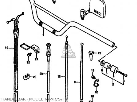 Suzuki Dr650 1993 (rseup) parts list partsmanual partsfiche